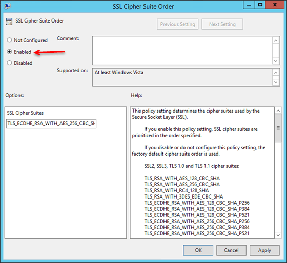 Netscaler 10.5 and Windows 2012 R2 SChannel Errors with TLS 1.2
