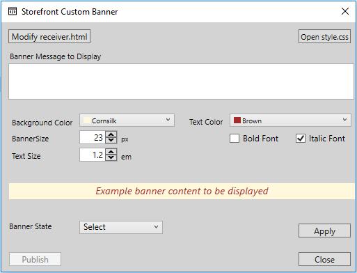 Storefront Custom Banner